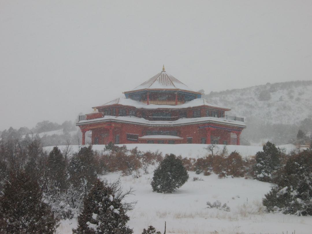 The Temple at Tara Mandala, Winter 2010