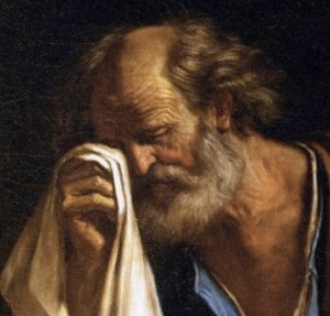 Saint Peter Weeping in the Presence of the Sorrowful Mother by Guercino, 1647