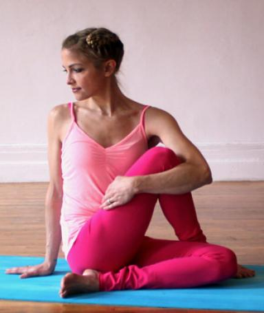The seated twist is low impact and improves digestion