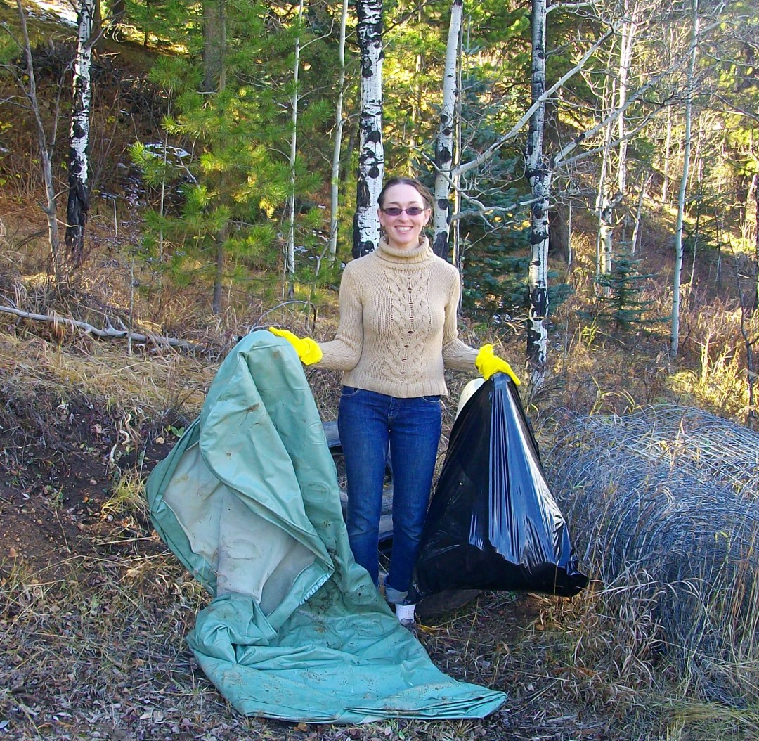 We hosted our annual road-side clean-up along the four-mile stretch of South Beaver Creek Road in Gilpin County