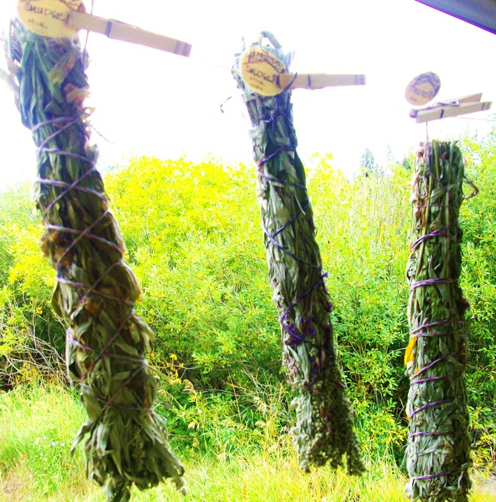 The Holistic Homestead's smudge sticks made with wildcrafted Mugwort and Rocky Mountain wildflowers. $20/ea. E-mail theholistichomestead@gmail.com to order.